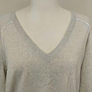 J Crew light beige V-neck long sleeve sweater